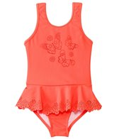 Seafolly Girls' Go Go Girl Flutter Bye Peplum One Piece (6mos-7yrs)