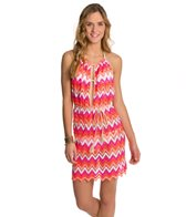 Luli Fama Flamingo Beach Front Row Mini Dress