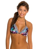 Quintsoul Floral Collage Triangle Bikini Top