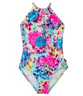 Seafolly Girls Secret Valley Braided High Neck One Piece (6-14)