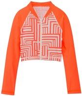 Seafolly Girls Mod Pop Cropped Zip Front Rashie (6-16)