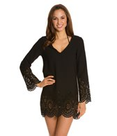 Kenneth Cole Reaction Scalloped Away V-Neck Tunic