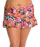 Kenneth Cole Reaction Plus Size Darling Ditsy Rouched Skirted Bottom