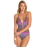 Kenneth Cole Moroccan-Me Crazy Plunge One Piece Swimsuit