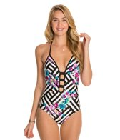 Kenneth Cole Scarf City Push Up One Piece Swimsuit