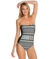 Kenneth Cole Nomad About You Bandeau One Piece Swimsuit
