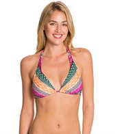 Kenneth Cole Reaction Get Rio Stripe Tri-Halter Bikini Top