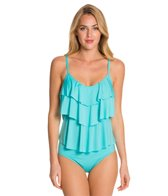 Kenneth Cole Reaction Ruffle-Licious Tiered Tankini Top
