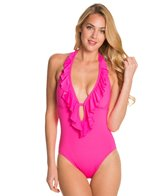 Kenneth Cole Reaction Ruffle-Licious Ruffle One Piece Swimsuit