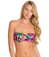 Kenneth Cole Reaction Miss Tropicali Faux Twist Bandeau Bikini Top