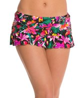 Kenneth Cole Reaction Miss Tropicali Swim Skirted Hipster Bikini Bottom
