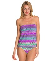 Kenneth Cole Reaction The Zig To My Zag Smocked Tankini Top