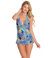 Kenneth Cole Reaction Paisley Intuition Halter Swimdress