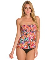 Kenneth Cole Reaction Darling Ditsy Smocked Tankini Top