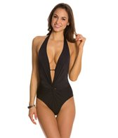Kenneth Cole Plunge Solid Mio One Piece