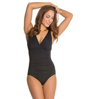 Jantzen Solid CD Cup Gathered Front One Piece Swimsuit