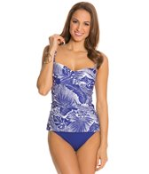 Jantzen Palm Reader Twist Front Tankini Top