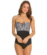 Jantzen Harbour Beauty Stripe Wrap Up Bandeau One Piece