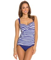 Jantzen Harbour Beauty Stripe Twist Front Tankini Top