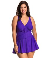 Miraclesuit Plus Size Solid Aurora Swimdress