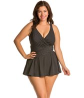 Miraclesuit Plus Plus Size Pin Point Swimdress