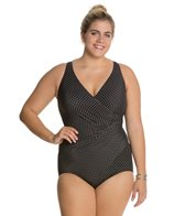 Miraclesuit Plus Size Pin Point Oceanus One Piece Swimsuit