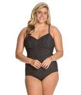 Miraclesuit Plus Size Pin Point Rialto One Piece Swimsuit