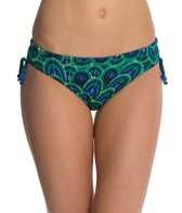 Funkita Emerald Peacock Tie Detail Brief Swimsuit