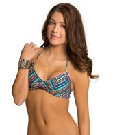L-Space Antigua Black Strap Back Bikini Top