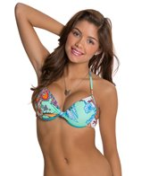 Hobie Perfect Paisley Push Up Underwire Bikini Top