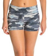 Marika Flat Waist Camo Printed Hot Short