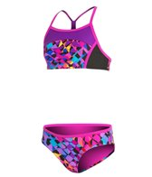 Speedo Girls' Spectrum Split Camikini Two Piece (7-16)