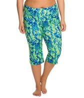 Marika High Rise Tummy Control Plus Size Yoga Capris