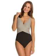 Gottex Gold Rush Surplice One Piece Swimsuit