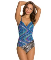 Gottex Rainbow ZeBra Bikini Top Underwire One Piece