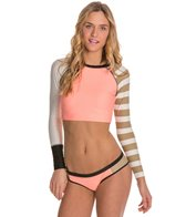 Body Glove Breathe Distraction Swim Crop L/S Rashguard
