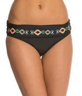 Jessica Simpson Embroidered Beauty Rollover Hipster Bikini Bottom