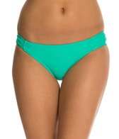 Jessica Simpson Sea Glass Side Shirred Hipster Bikini Bottom