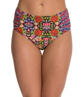 Jessica Simpson Folkloric High Waisted Bikini Bottom