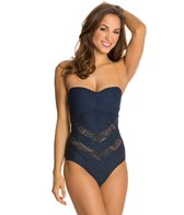 Jessica Simpson Cut Out Crochet Bandeau One Piece