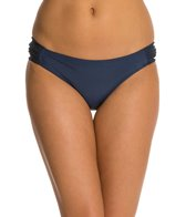 Jessica Simpson Cut Out Crochet Side Shirred Hipster Bikini Bottom