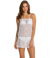 Jessica Simpson Cut Out Crochet Drawstring Romper