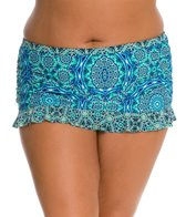 Jessica Simpson Plus Size Gypsy Life Ruffle Skirted Bottom