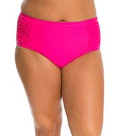 Jessica Simpson Plus Size Solid Shirred High Waist Bottom