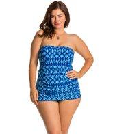 Jessica Simpson Plus Size Navajo Bandeau Swimdress