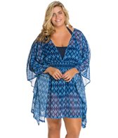 Jessica Simpson Plus Size Navajo Chiffon Cover Up