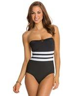 Jones New York Basic Core Bandeau One Piece Swimsuit