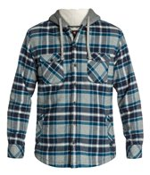 Quiksilver Men's Grouper Hooded Long Sleeve Flannel
