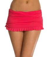 Profile by Gottex Solid Ruffle Swim Skirted Bikini Bottom
