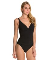 Profile by Gottex Tutti Frutti V-Neck One Piece Swimsuit (D-Cup)